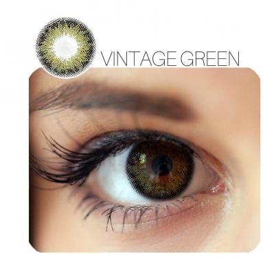 Vintage Prescription Green (12 Month) Contact Lenses