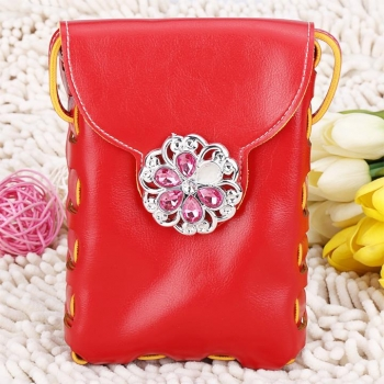 Red Rhinestone Embellished Crossbody Bag High Quality Bag