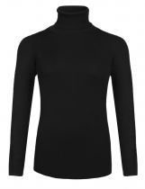 Black Women Cable Knit Turtleneck Long Sleeve Solid Plus Size Sweater Pullover