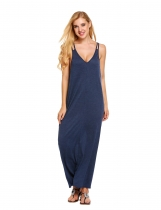 Женский ремешок Loose Maxi Полная длина Beach Solid Casual