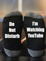 Black I'm Watching YouTube Socks