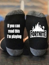 Czarny If You Can Read This I'm Playing Fortnite Socks