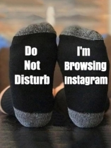 Black I'm Browsing Instagram Socks