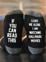 Black I'm Watching Hallmark Movies Socks