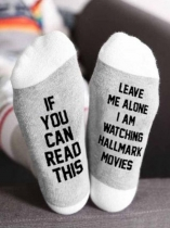 Light gray I'm Watching Hallmark Movies Socks