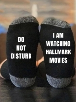 Black Do Not Disturb I'm Watching Hallmark Movies