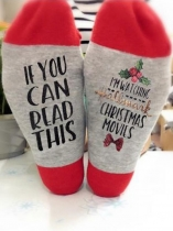 Red If You Can Read This I'm Watching Hallmark Christmas Movies Socks