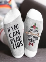 White If You Can Read This I'm Watching Hallmark Christmas Movies Socks