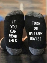 Black Turn On Hallmark Movies Socks