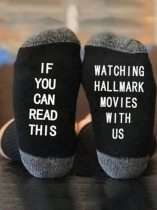 Black Watching Hallmark Movies Socks