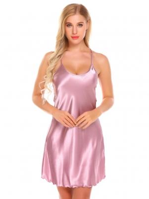 Purple Women Chemise Slip Nightgown 2cc56e108