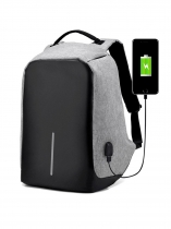 Black Nylon Anti-theft Backpack Bobby Best Laptop Bag With USB Charger For Men Women