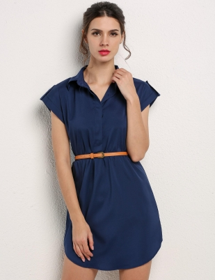 0891974e53a Navy Blue Casual Dress - Dress Foto and Picture