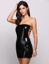Sleeveless Bandeau Bodycon Backless Bandage Sexy Going Out Dress