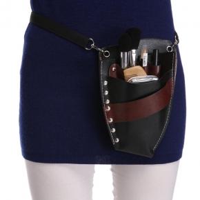 45217b83b827 Faux Leather Barber Scissors Hairdressing Kit Bag with Shoulder Waist Belt  Case Holder Rivet Clips Bag
