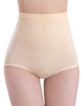 Apricot Seamless High Waist Body Shaper Tummy Control Panties Abdomen Underwears