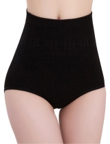 Black Seamless High Waist Body Shaper Tummy Control Panties Abdomen Underwears
