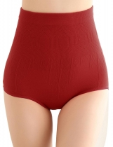 Red Women Seamless High Waist Body Shaper Braguedades de contrôle du ventre Abdomen Underwears