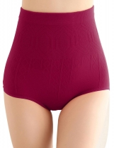 Rose red rouge Femmes Seamless High Waist Body Shaper Braguedades de contrôle du ventre Abdomen Underwears