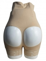 Apricot Seamless Buttocks Hollow-out PP Shaping Briefs Pants