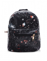 New Teenagers Moda feminina Black Star Universe Space Print Sacos pequenos School Backpack