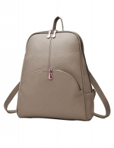 Synthetic Leather Softback Preppy Style Backpack Bags