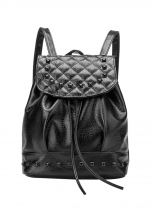 Synthetic Leather Rivet Decor Solid Backpacks