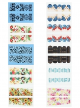 10 Sheet Print Floral Wrap Nail Art Sticker Set