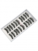 Black 4 10 Pairs Makeup Handmade Soft Extension Long False Eyelashes