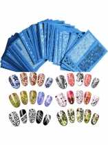 Women Girls Decor 50 Sheet Print Nail Art Sticker Set