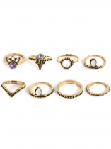 8 Pcs Ethnic Boho Style Tone Knuckle Rings Assorted Sets