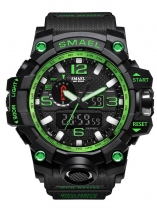Men Multi-function Round Analog Digital Buckle Quartz Battery Watch