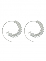 Circles Round Spiral Brass Tribal Hoop Earrings