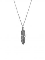 Feather Pattern Pendant Charm Necklace Jewelry Fashion