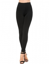 Black Casual Slim High Waist High Stretch Leggings