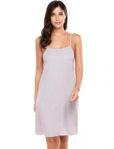 Gris Mujeres Casual sin mangas de gasa Backless O Neck gasa A-Line Dress