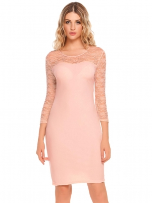 0fa2b45a61b Pastel pink Cocktail Party Dress