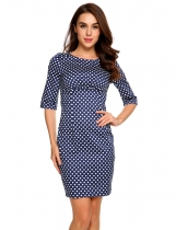 Blue Robe Bodycon