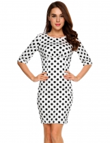 White Robe Bodycon