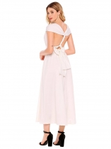 White Backless Multi-Wear Convertible Maxi Dress
