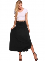 Femmes Fashion Elastic Waist Party Long Maxi Jupe