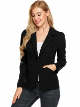 Black New Women Ultra Lightweight Open Front Solid Cardigan Blazer Jacket