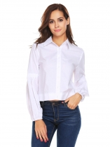 White Chemise à manches longues Long Sleeve