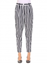Women Casual Striped Contrast Color Long Business Harem Pants