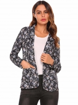 Pattern 2 Women Solid Long Sleeve Slim Fit Blazer
