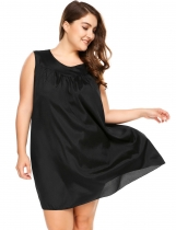 Noir Chemise manches longues taille V