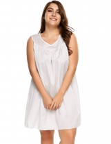 White Chemise manches longues taille V