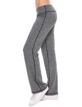 Dark gray Loose Mid-waisted Stretchy Sports Ygoa Pants