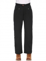 Noir New Women Mode Cargo Sports décontractés Solid Jogger Outdoor Sweatpants Pantalons de randonnée