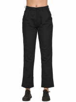 Black Sports Solid Climbing Trousers Sweatpants
